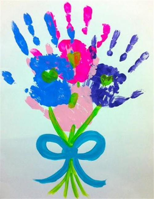 Mothers Day Crafts For Kids - Painted Hand Bouquet