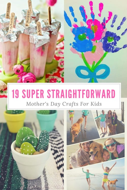 19 Super Straightforward Mother's Day Crafts For Kids