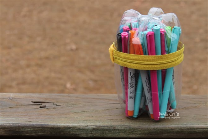 Craft Ideas For Adults - Bottle Pencil Case