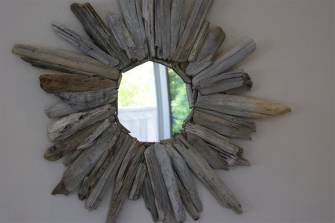 Craft Ideas For Adults - Driftwood Mirror
