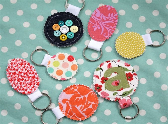 Craft Ideas For Adults - Fabric Keychain