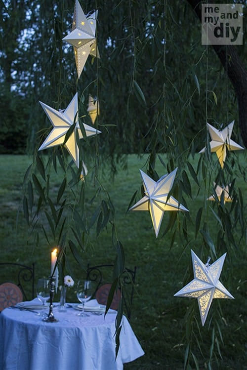 Craft Ideas For Adults - Paper Star Lanterns