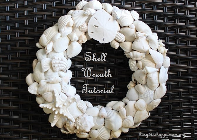 Craft Ideas For Adults - Shell Wreath