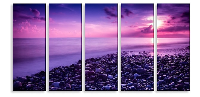 Craft Ideas For Adults - Split Image Sunset Print
