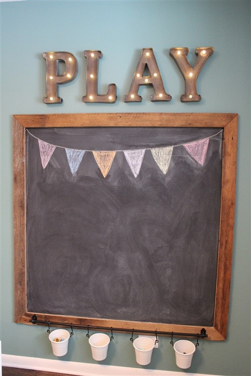 Budget Decorating Ideas For Kids Bedrooms - Play Chalkboard