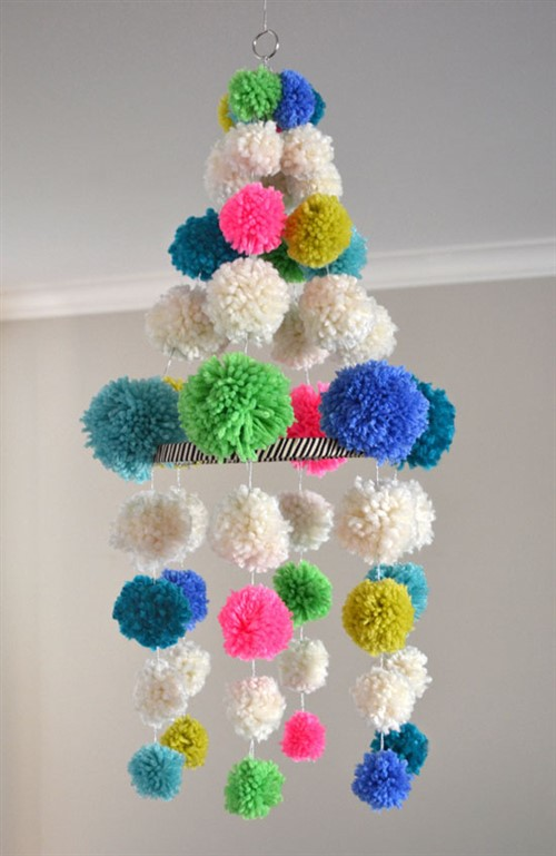 Budget Decorating Ideas For Kids Bedrooms - Pom Pom Chandelier