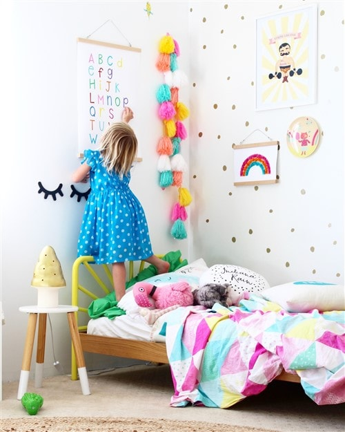 Budget Decorating Ideas For Kids Bedrooms - Rainbow Alphabet Chart