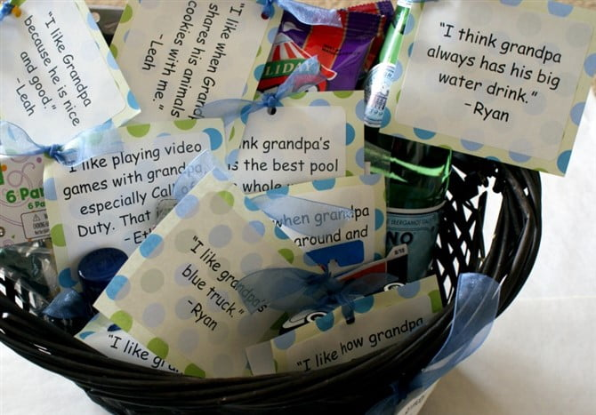 Gift Ideas For Grandparents - Basket Of Love