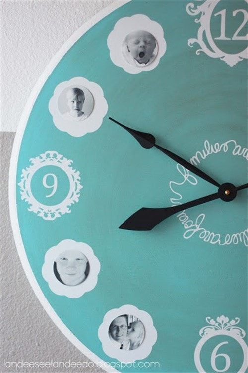 Gift Ideas For Grandparents - Family Clock
