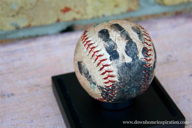 Gift Ideas For Grandparents - Handprint Baseball