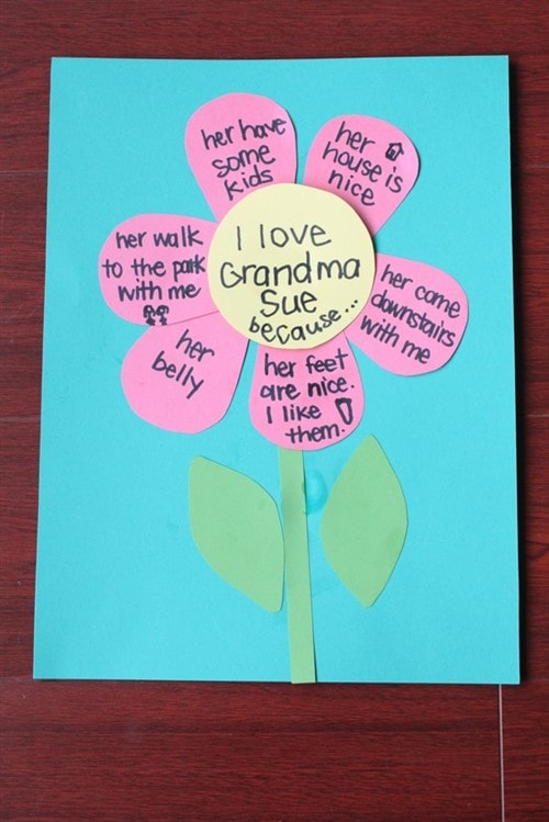 Gift Ideas For Grandparents - I Love Grandma Because