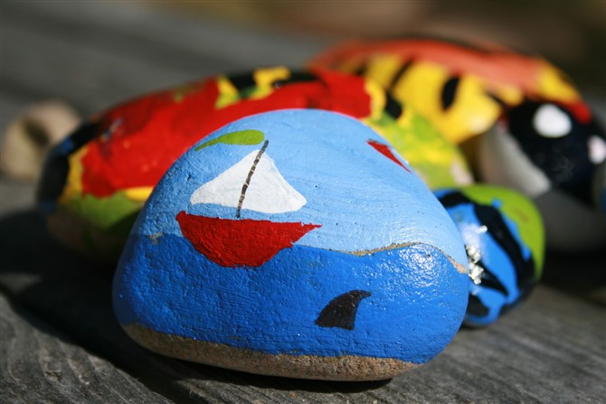 Gift Ideas For Grandparents - Paint And Hide Rocks
