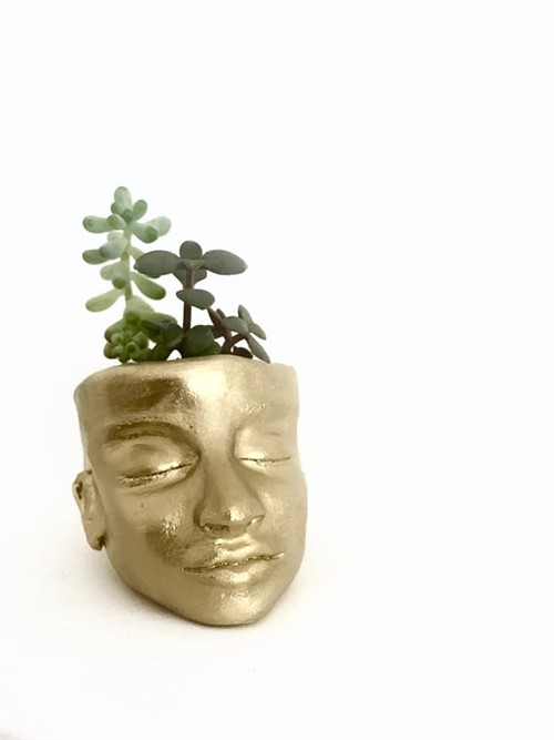 Unusual Gift Ideas - Gold Head Planter