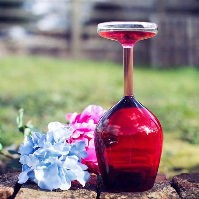 Unusual Gift Ideas - Upside Down Wine Glass