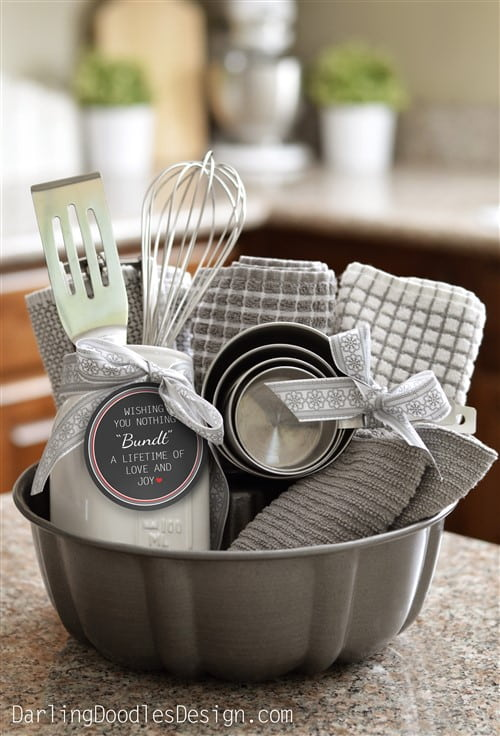 Housewarming Gift Ideas - Adorable Bundt Gift Basket