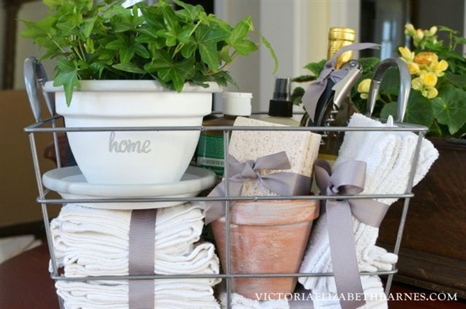 Housewarming Gift Ideas - Cleaning Supplies And Wine