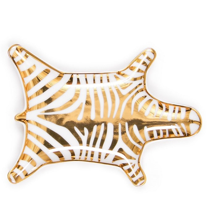 Housewarming Gift Ideas - Metallic Zebra Dish