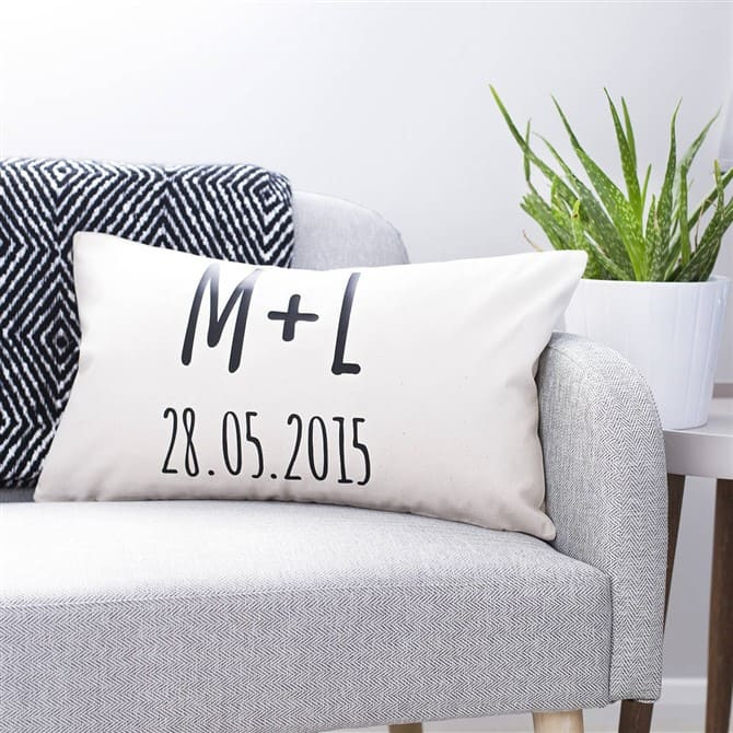 Housewarming Gift Ideas - Personalised Initials Couples Cushion
