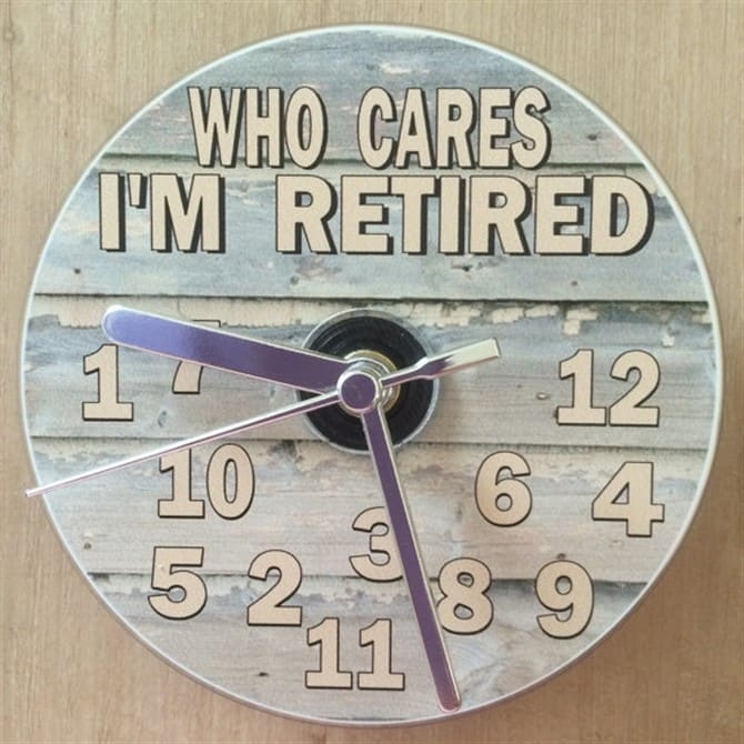 Retirement Gifts - Who Cares I'm Retired Clock