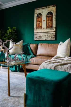 emerald green decor