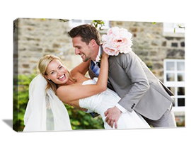 Photo to canvas gifts wedding wall display