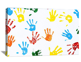 Photo to canvas of kids art