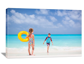 Photo to canvas of vacations