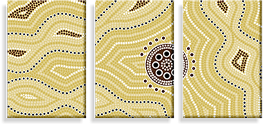 Aboriginal Art on Canvas
