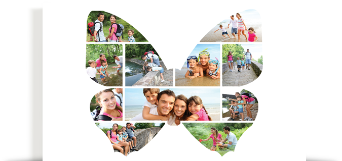 Silhouette Image Collage - Canvas Printers Online Pty Ltd