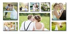 Canvas Print Wall Displays - (2) 40 x 50cm & (2) 40 x 25cm & (3) 25 x 25cm & (1) 85 x 50cm