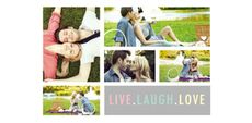 Themed Collage Photos - Live laugh love