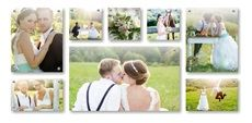 Photos on glass displays - (2) 40 x 50cm & (2) 40 x 25cm & (3) 25 x 25cm & (1) 85 x 50cm