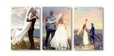 Photos on glass displays - (3) 30 x 45cm